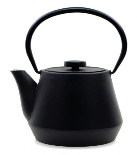 BRIDGES - Japanese style Cast Iron black tea pot kettle 0.7 litre  - GOTO